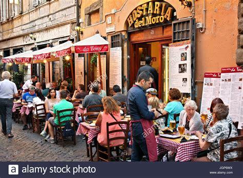 best restaurant trastevere rome restaurants in trastevere rome italy stock photo