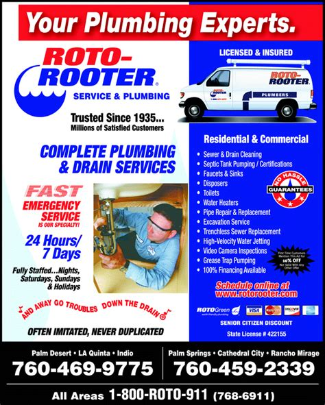 Yellowbook Phone Number Lookup Directory Ad For Roto Rooter Service Plumbing