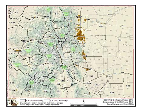 colorado gmu map elk statistics and information start my hunt