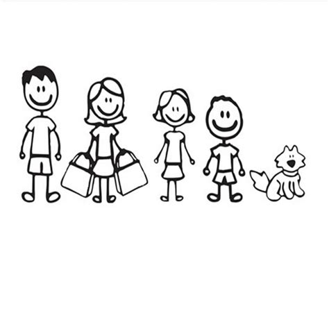 Family Sticker Pets by Daugther And Pet Car Stickers Family