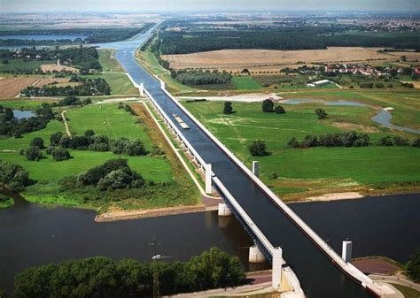 germany forbes magdeburg water bridge magdeburg germany in photos
