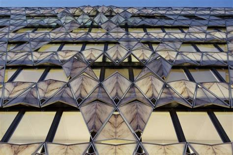 Origami Building - unique office building with origami inspired facade