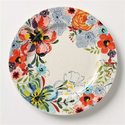 Floral Plate wall flowers decorative plates in the dining room swoon