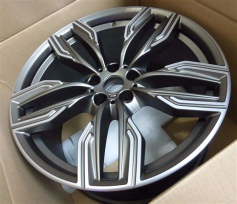 20 m light alloy double spoke wheels style 469m bmw g11 g12 760m 20 quot cerium grey m double five spoke bi