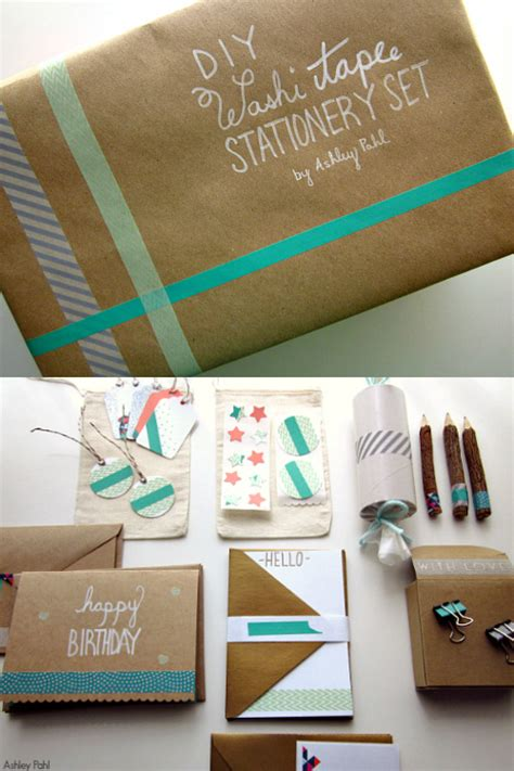 diy stationery washi stationery set by she makes a home