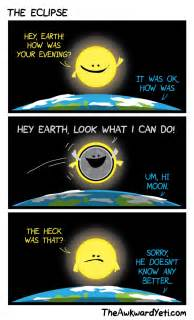 Eclipse Curtains For Kids Science Cartoon The Awkward Yeti