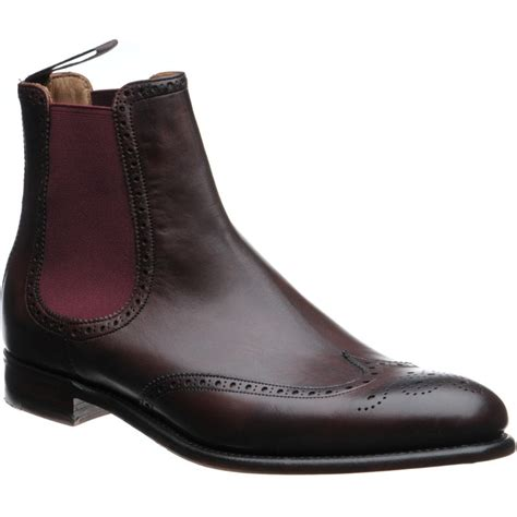Brogue Chelsea Boots herring shoes herring premier thatcher brogue chelsea
