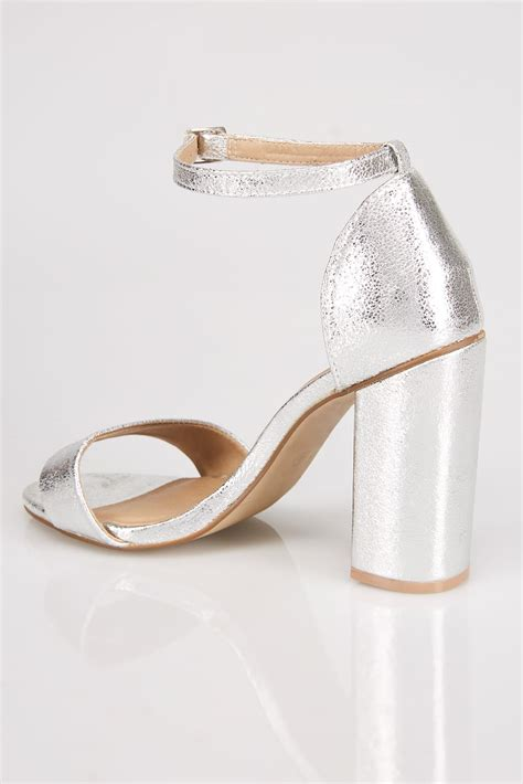 silver comfort silver comfort insole block heel mary sandal in e fit