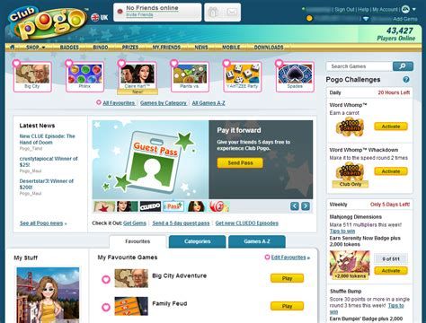 Clubpogo Home by New Club Pogo Home Page Rolling Out