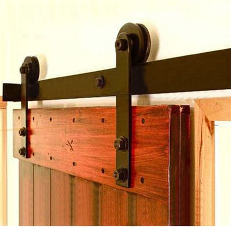 barn door rail kit 5 16ft winsoon rustic single sliding barn door hardware