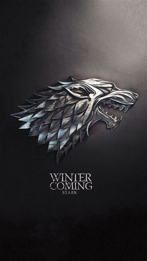 iphone winter  coming game  thrones black