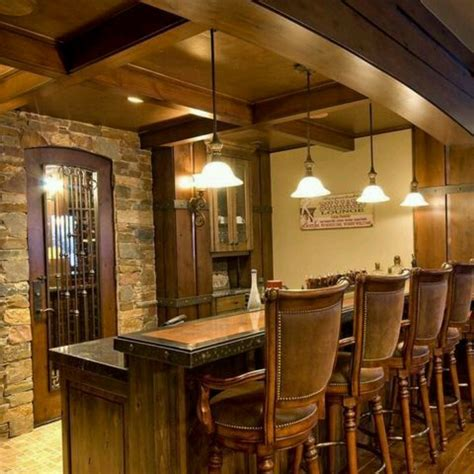 rustic basement bar basement inspiration