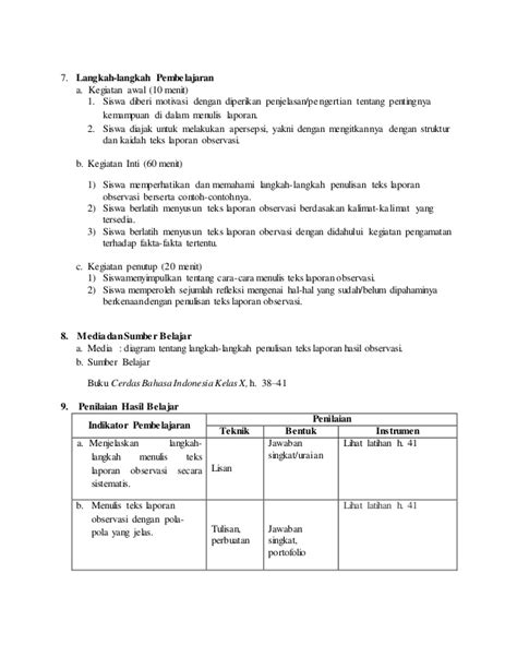 format laporan observasi pdf contoh laporan observasi wawancara guru contoh hasil