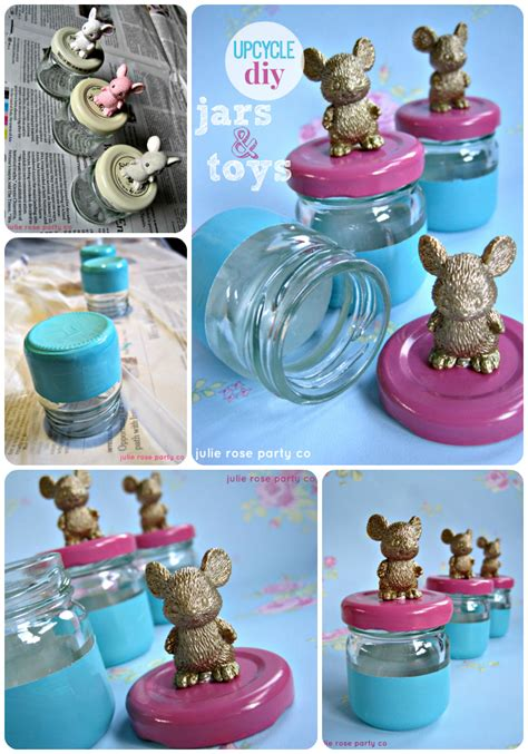 Kitchen Design Ideas 2014 by Upcycle Diy Jars And Plastic Toy Animals Julie Rose