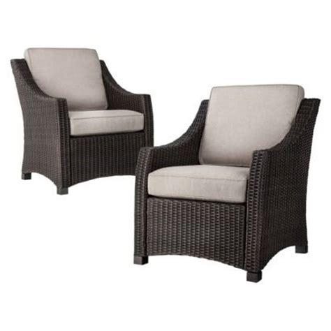 threshold black rattan wingback chair threshold belvedere wicker 2 patio club chair set