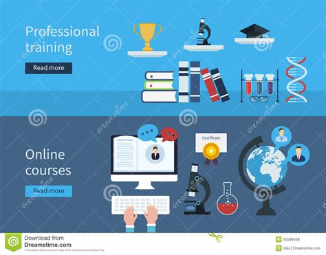 design online training professional training and online courses stock vector