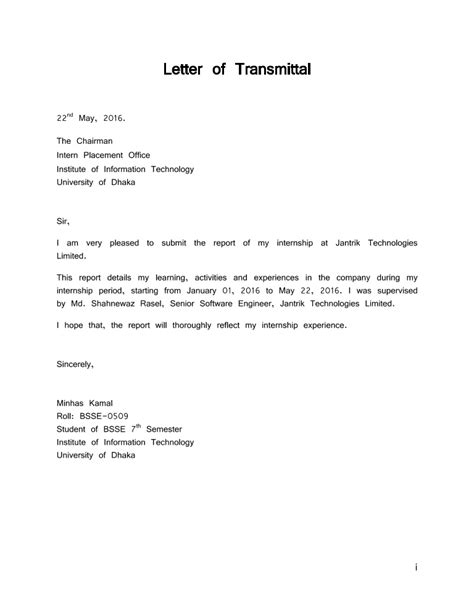 transmittal letter example crna cover letter