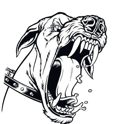 furious animated barking dog tattoo design tattooimages biz