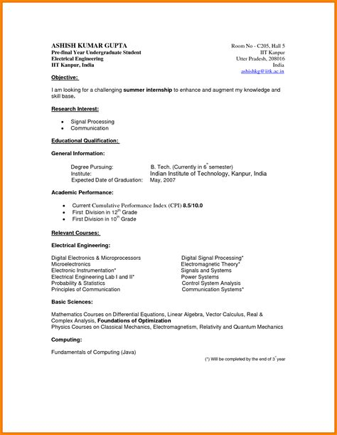 Resume Template Undergraduate by Undergraduate Student Resume Template Simple Resume Template