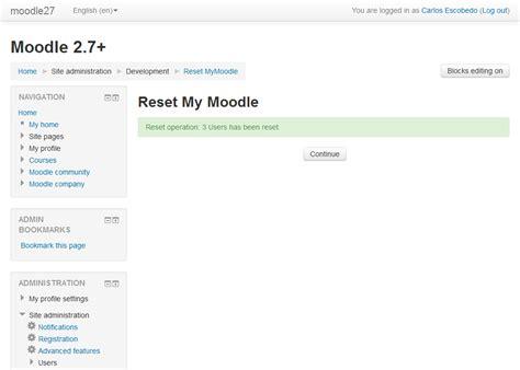 Reset Tool Plugin Nextgen | moodle plugins directory reset mymoodle