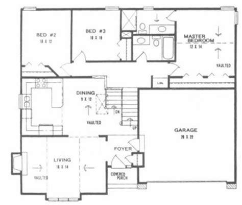 front to back split house plan 1246 front to back split level home