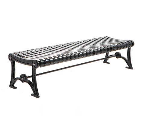 metal backless bench metal backless park bench cal 953b canaan