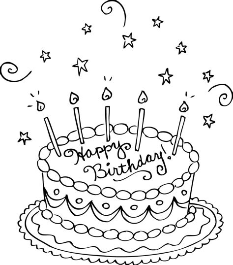 Coloring Pages For Birthday Cake | free printable birthday cake coloring pages for kids