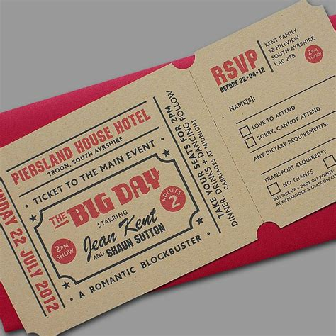 Wedding Invitation Yield by Best 20 Ticket Invitation Ideas On