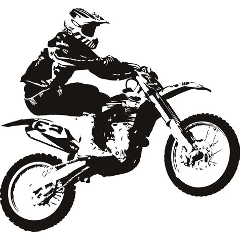 motocross bike free best dirt bike clip black and white library vector