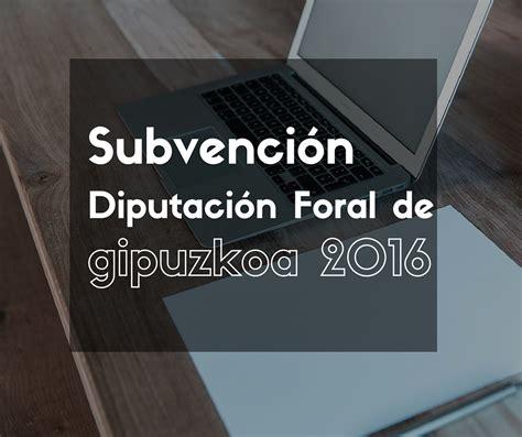 rentas del ahorro 2016 diputacin foral subvenci 243 n diputaci 243 n foral sobre la innovaci 243 n del