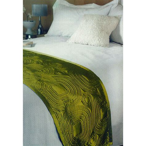 satin throws bedroom quality bedding green embossed satin bed runner throw 45 x 220cm new