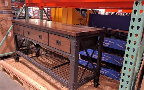 Kitchen Islands Stainless Steel by Costco Exclusive Whalen Industrial Metal And Wood Workbench Auto Fix Pal