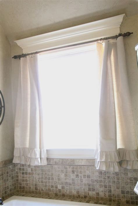 hanging curtains on windows with molding 25 best ideas about bathroom window curtains on pinterest