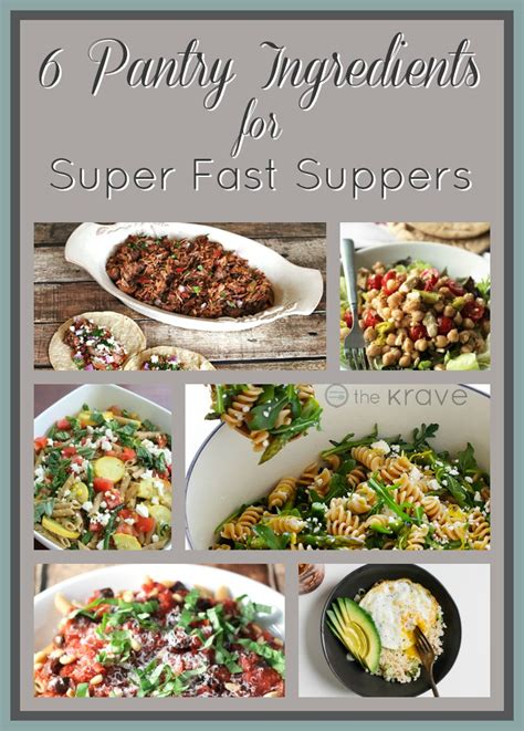 What Can I Make With Ingredients In Pantry by 6 Pantry Ingredients For Fast Suppers The Krave