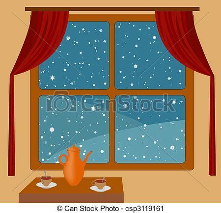 Rectangular Home Plans clipart of snowfall outside window view of the snow from
