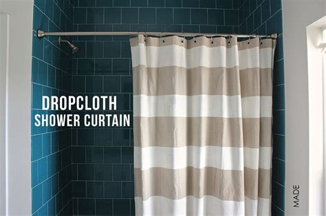 how much fabric to make a shower curtain dropcloth shower curtain made everyday