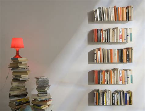 Thin Wall Shelf Judd Wall Shelves By Teebooks Keep Your Books Suspended