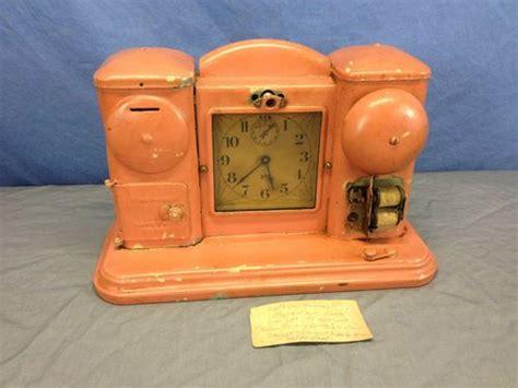 vintage antique darche mfg co metal shelf alarm clock novelty bank steunk ebay retro