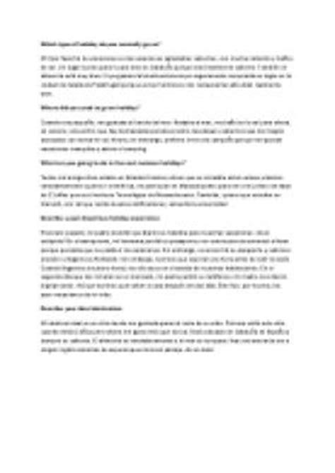spanish to gcse mucha 0199122210 gcse spanish controlled assessment mi tipo favorito de vacaciones gcse modern foreign