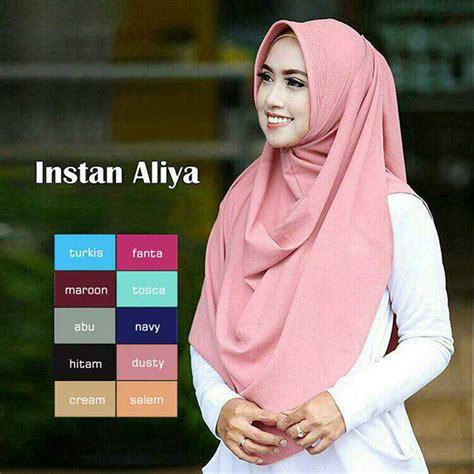jilbab instan aliya pad modern simple terbaru 2018