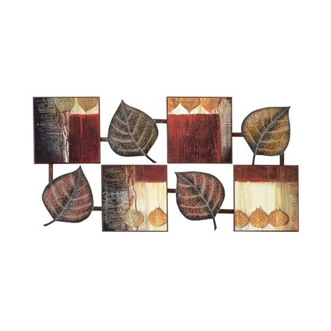 home wall decor and accents aspire home accents 64210 abstract leaf wall decor the mine
