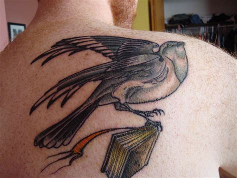 famous mockingbird tattoo picture