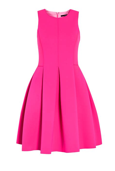 Dress Pink tibi sleeveless neoprene scuba dress in pink lyst