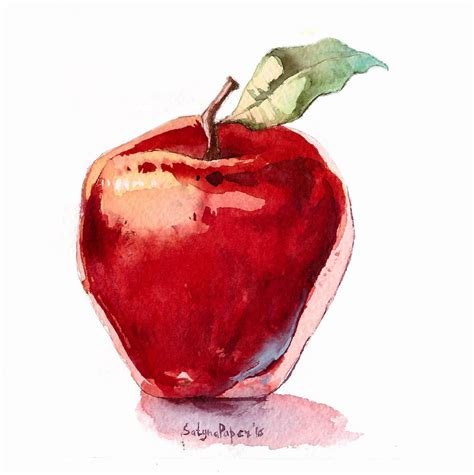 watercolor tutorial apple watercolour apple by satynapaper on deviantart