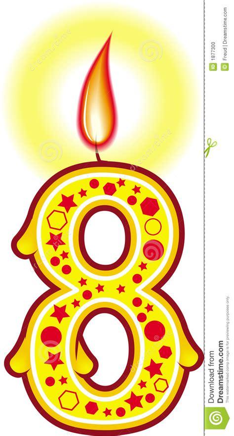 clipart compleanni candela 8 di compleanno illustrazione di stock