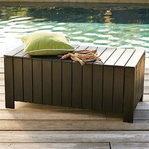 poolside storage bench wood slat storage bench modern outdoor benches by