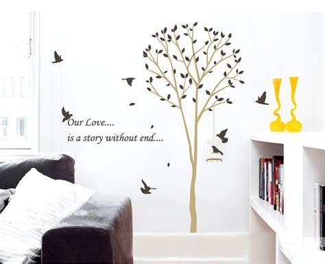 Beli 1 Gratis 1 Wallpaper Stiker Dinding Pohon Burung Wall Sticker besar stiker dinding 60 90 cm grosir 3 pcs pengiriman gratis akasia pohon burung wallpaper