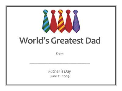 printable gift certificates for dad father s day gift ideas free printable gift certificates