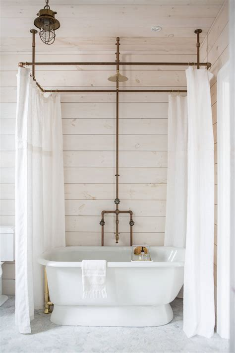diy shower curtain hoop   brass pipes  zio sons