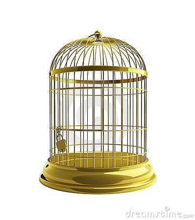 gabbia dorata gabbia dorata immagine stock immagine 12936771